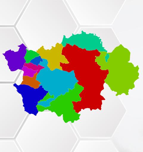 Χάρτης εκλογικών διαμερισμάτων Δήμου Γρεβενών