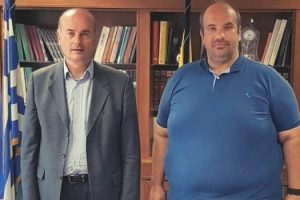 Εκτελεστικός γραμματέας κ. Γρηγόρης Γρηγοριάδης και Αντιπεριφερειάρχης Γρεβενών κ. Ιωάννης Γιάτσιος