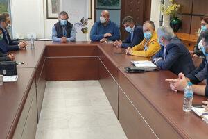 Σύσκεψη με θέμα τη διαχείριση των κρουσμάτων ιού Covid-19